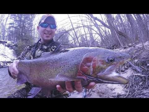 April 2018 Michigan Steelhead Fly Fishing
