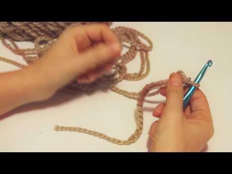 How To: Crochet (Lesson 3) Half double crochet, HDC; Learn to Crochet