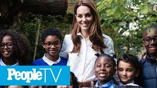 Kate Middleton & Prince William Take George, Charlotte & Louis For Sneak Peek Of Garden | PeopleTV