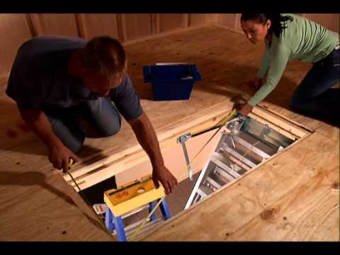 KELLER - Aluminum Attic Ladder Complete Installation Video
