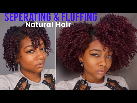 Separate & Fluff for Volume | Twist Out Take Down on Natural Hair ft Rapunzel the Future of Hair