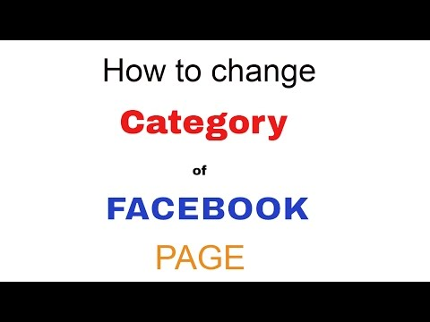 How to change the category of Facebook Page | Fcebook tips 2017 | Earning Learning.