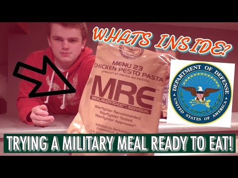 What's Inside of a USA Military Meal? (MRE Taste Test!!)