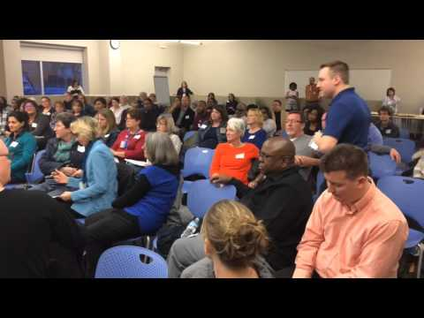 Testy Parents walk out on Open Carry Advocate