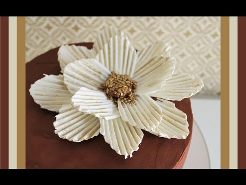 How to make a Chocolate Flower | Alternative Method