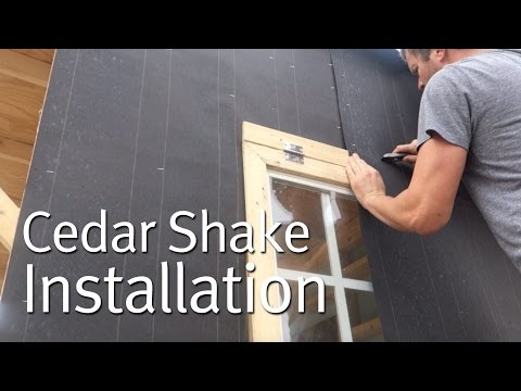 Simple Cedar Shake Siding Installation