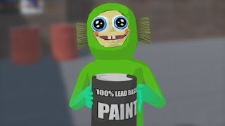 he drank the paint