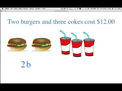 How to make equations with two unknowns