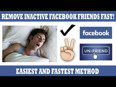 How To Remove Inactive  Facebook Friends FAST 2017