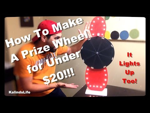 How To Make a Roulette Prize Wheel for Under $20!!!