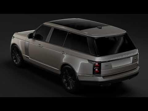 3D Model of Range Rover Autobiography Hybrid LWB L405 2018