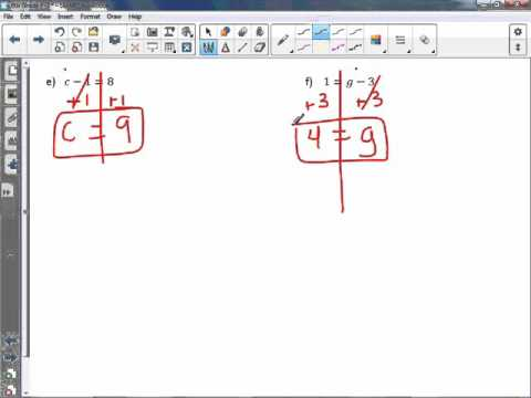 6th Grade 7-3: Solve and Write Subtraction Equations