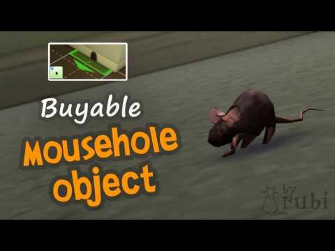 The Sims 4 City Living: Buyable MouseHole Object (Satın Alınabilir Fare Deliği) by RuBi