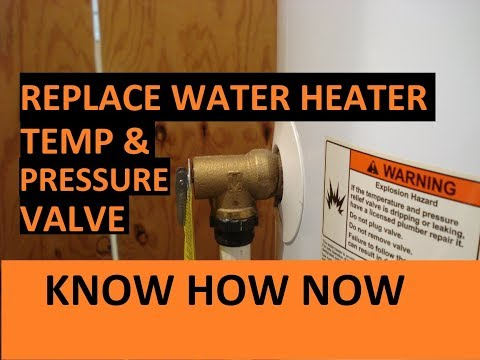 How to Replace a Water Heater Pressure Relief Valve T&P