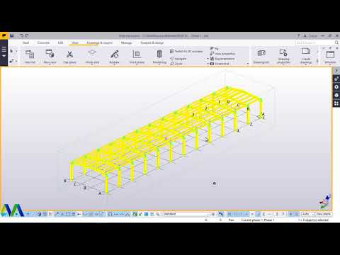 How to create portal frame using macro in tekla structures 2017