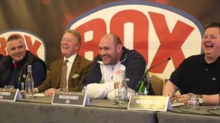 COMEDY GOLD!! - TYSON FURY & PRINCE NASEEM HAMED EXCHANGE BANTER DURING PRESSER / FURY v KLITSCHKO 2