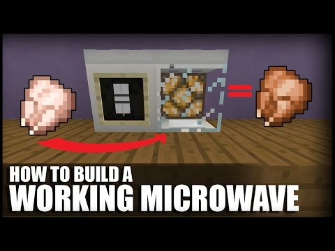 How To Make A Working Microwave In Minecraft