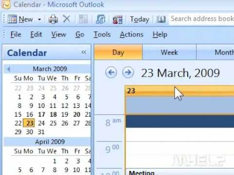 How to open calendar from the navigation pane in Outlook