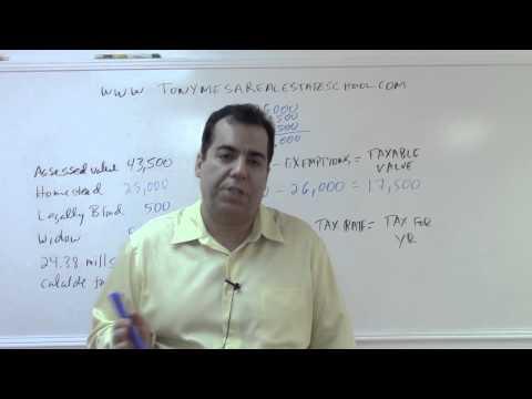 Florida Real Estate Exam Prep Math 11: Property Taxes
