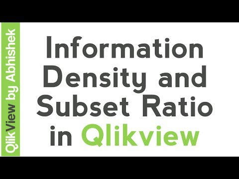 Qlikview Tutorial | Information Density and Subset Ratio in QlikView Table Fields
