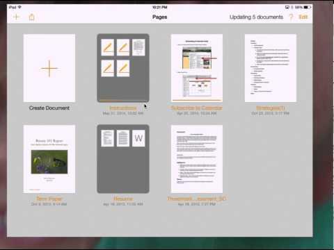 Backup Pages, Keynote & Numbers to iCloud