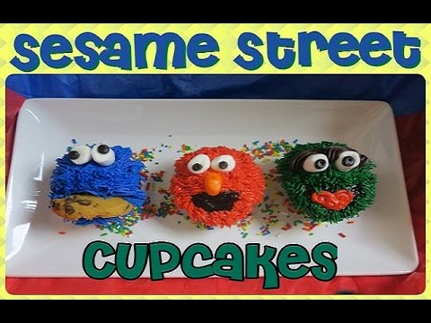 HOW TO MAKE Sesame Street Cupcakes | Elmo, Cookie Monster, & Oscar | CAKE TUTORIAL for beginners