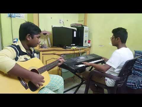 nuvvunte naa jathaga from i keyboard and guitar cover by p.v.satyanarayana and nawaz