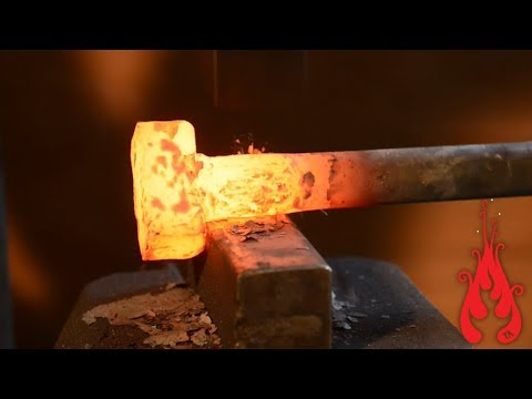 Power hammer - Forging and mounting the foundation bolts (7)