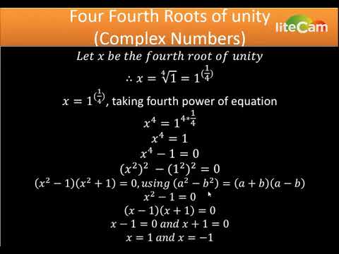 Four Fourth Roots of Unity(Complex Numbers) part 1