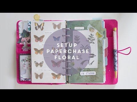 Come fare il setup dell'agenda ITA || Paperchase personal || Planner setup botanical style