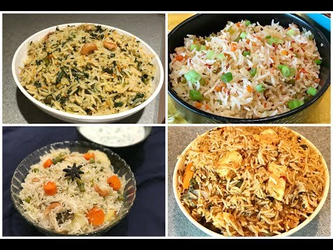 Quick and Easy Rice Recipes - Part 2 | One pot meal | Lunch box recipes | Rice Varieties