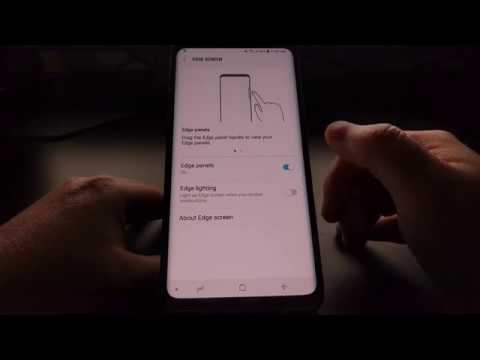Galaxy S9 & S9+ | Turning off the Edge Lighting Notifications
