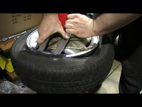 Removing an old car tyre at home without damaging or scratching the rim