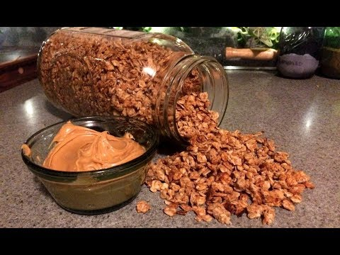Easy Peanut Butter Granola Recipe (Off Grid Cooking)