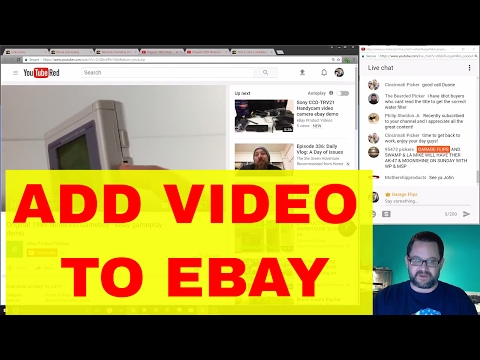 How to add YouTube Videos to your eBay listings starting June 2017-LIVE STREAM