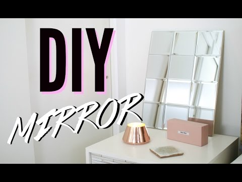 DIY Mosaic Mirror! Simple & Cheap Room Decor
