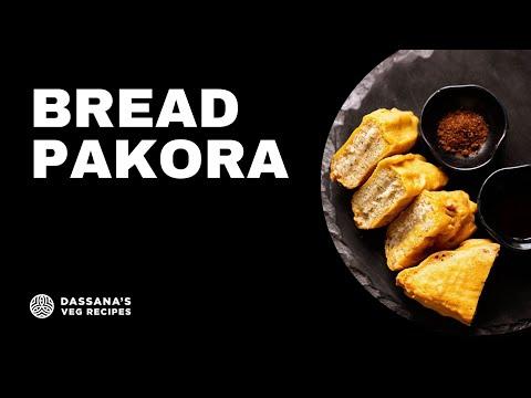 bread pakora recipe, plain bread pakora, how to make bread pakoda recipe