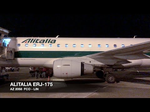TRIP REPORT   Alitalia ERJ-175   Rome FCO ✈ Milan LIN   Economy Class