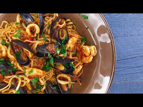 Seafood Fra Diavolo with Linguini