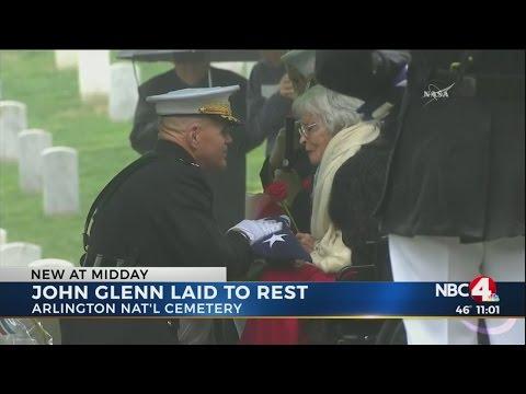 American hero and astronaut John Glenn laid to rest at Arlington National Cemetery