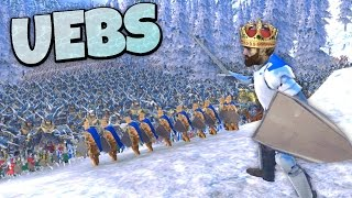 UEBS - Defending the Ice King (Dave) in Avalanche Canyon! - Ultimate Epic Battle Simulator Gameplay