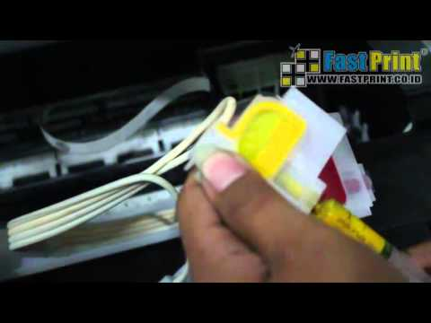 HOW TO REMOVE THE INK CARTRIDGE | Cleaning the printhead EPSON L120