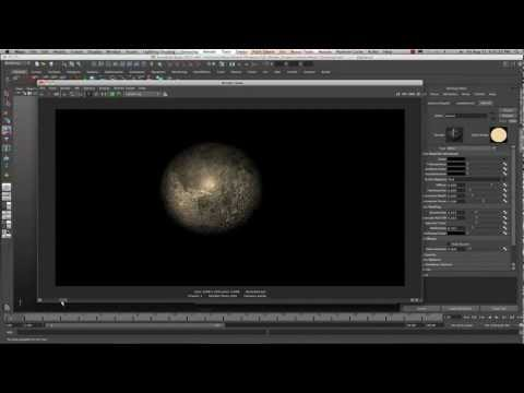 Maya 2013 Texturing the Moon with Crazy Bump tutorial by Stuart Christensen