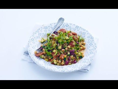 Beans with chorizo and arugula – Savory