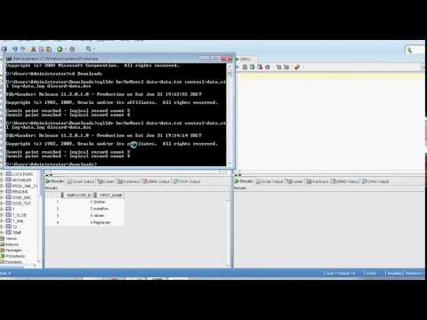 oracle sqlloader purpose of optionally enclosed by double quotes