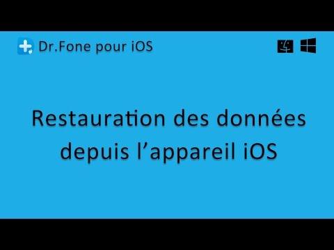 Dr.Fone pour iOS: Restauration des données depuis l'appareil iOS