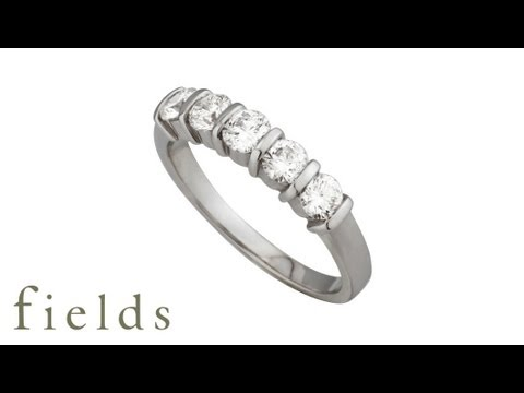 18ct White Gold  Eternity Ring