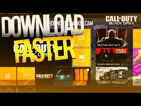 HOW TO DOWNLOAD BO3 FASTER (COD Black Ops 3 How To Download Faster Tips And Tricks!)