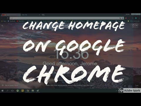 How to change the homepage on Google Chrome ( 2018 )