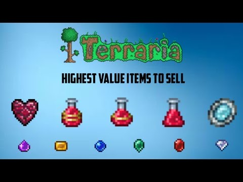 Terraria ios 1.2.4 | High price items to sell (Quick way to earn money!!!)